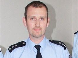 Policista Marek Antel, který dostal medaili za statečnost za to, že s nasazením