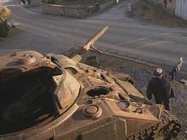 Jeden z pamětníků popisuje souboj M4 Sherman ...