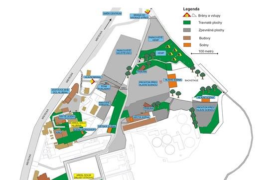 Mapa are�lu Colours of Ostrava