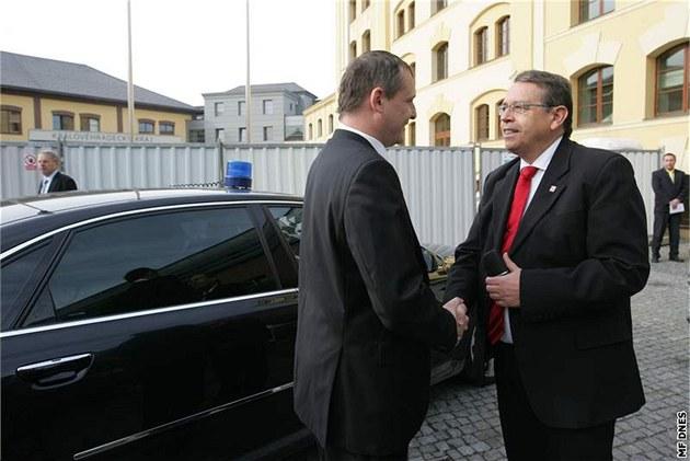 Ministr dopravy Vít Bárta a hejtman královéhradeckého kraje Lubomír Franc