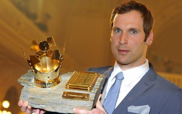 Petr �ech, branká� londýnské Chelsea, vyhrál anketu Fotbalista roku u�