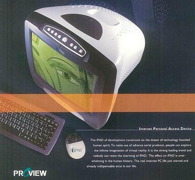 iPAD spole�nosti Proview se za�al prodávat v roce 2000. Vypadal podobn� jako