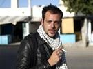 Francouzsk� fotograf Remi Ochlik v Tunisku, kde zachytil za��tek arabsk�ho jara.