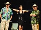 Jan Kříž (Freddy Benson), Daniela Šinkorová (Christine Colgate), Jiří