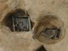 Odkrytá středověká studna v Libišanech