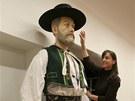Figurína hanáckého obra Drásala v životní velikosti - tedy 242 centimetrů...