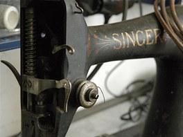 Staré šicí stroje jsou Podlešákovou láskou. Tento čeká kompletní generálka.