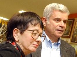 Režisérka Vlasta Janečková se svým manželem Petrem Štěpánkem na snímku z