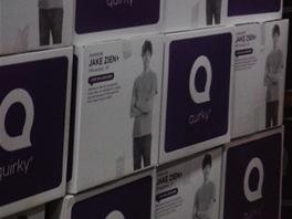 Takhle vypadají balení nových výrobků, které v Quirky vzniknou.