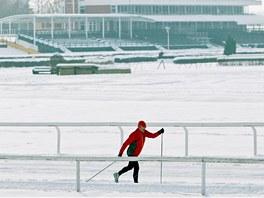 V minulých letech se na dostihovém závodišti proháněli běžkaři pravidelně.