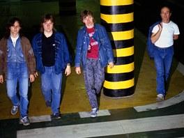 Olympic v roce 1988 (zleva Milan Peroutka, Jiří Valenta, Milan Broum, Petr
