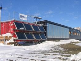 Celkov� n�klady na stavbu v�deck� stanice byly 43 milion� korun v�etn� dopravy.