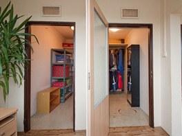 Komory na patře si majitelé bytu odkoupili.