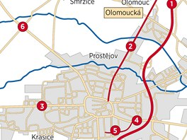 Šest míst v Prostějově a okolí, kde se nejčastěji stávají nehody: 1. rychlostní