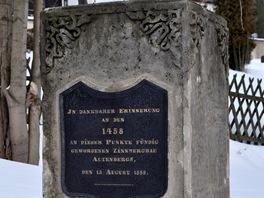 Památník 400. výročí objevení cínu v Altenbergu