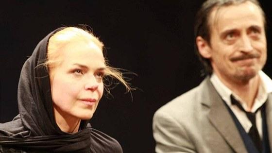 Dagmar Havlov� a Martin Stropnick� na premi��e Vi��ov�ho sadu v  Divadle na