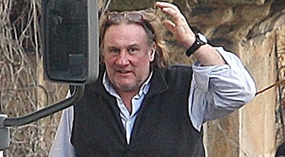 G�rard Depardieu na nat��en� v kl�te�e v Chot�ov� na ji�n�m Plze�sku.
