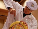 Ochutnávání vzorků na světovém šampionátu sýrů