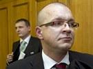 Jaroslav �k�rka a V�t B�rta u Obvodn�ho soudu pro Prahu 5. (7. b�ezna 2012)