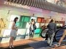 Pohled do jedné ze tří z rotund budoucí obchodní galerie Arkády
