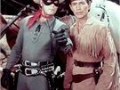 Clayton Moore jako Lone Ranger a Jay Silverheels jako Tonto v seriálu Lone