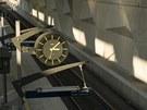 Detail vybavení nástupiště