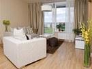 Z obývacího pokoje stejně jako z ložnice lze vstoupit do prostorné lodžie,