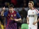 LIONEL VELIK�. Barcelonsk� Lionel Messi v utk�n� s Bayerem Leverkusen z��il.