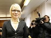 Kristýna Kočí během druhého dne soudního přelíčení, které projednává obžalobu