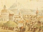 Vzácný obraz, který zachycuje Trutnov zkraje 19. století, našli zaměstnanci