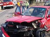 Dvaadvacetiletý řidič Octavie vjel v Rokytňanech do protisměru a čelně narazil