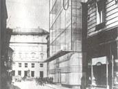 Návrh prosklené budovy z roku 1943 pro ASO, která měla nahradit starý Anderův