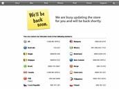 Apple Store se připravuje na nové produkty