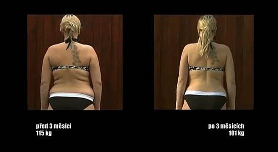 Kamila shodila za tři měsíce v pase 16 centimetrů.