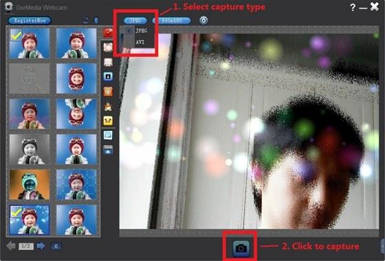 GorMedia Webcam upravuje obraz snímaný vaší webkamerou v reálném čase a umí do