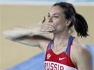 ZLAT� POLIBKY. Ruska Jelena Isinbajevov� vyhr�la na halov�m MS v Istanbulu