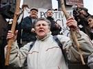 Protestn� shrom�d�n� proti vl�d� s po�adavkem jej� demise na V�clavsk�m
