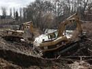 Ekologové chtějí zastavit bagry na břehu Mlýnského potoka v Olomouci. Ohrožují