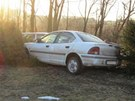 Chrysler Neon po smrtelném střetu s chodcem u Zdoňova