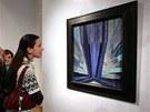Tvar modr� Franti�ka Kupky je vystaven v ostravsk� Galerii v�tvarn�ho um�n�.