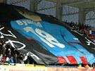 VZPOM�NKA NA BYSTRON�. Plze�t� fanou�ci v pr�b�hu z�pasu proti Olomouci