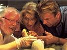 Richard Attenborough, Laura Dernová a Sam Neill ve filmu Jurský park