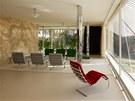 Mies van der Rohe navrhl pro vilu i některé kusy nábytku.