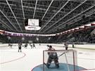 Vizualizace plánované budoucí podoby interiéru olomouckého zimního stadionu.