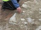 Archeologové odkryli na stavbě Tyršova mostu v Přerově základy raně