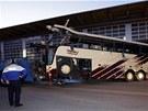 Autobus havaroval na zjihoz�pad� �v�carska (14. b�ezna 2012)