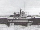 Pokusy splováky na tancích řady T-54/55