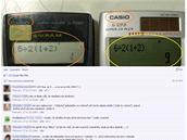 Hádanka se dvěma kalkulačkami je velmi populární na Facebooku a dalších