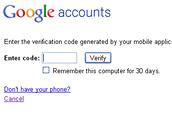 Druhý krok vyžaduje ověření pomocí kódu zaslaného na telefon (nebo