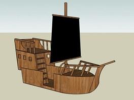 Počítačový návrh pirátské lodi